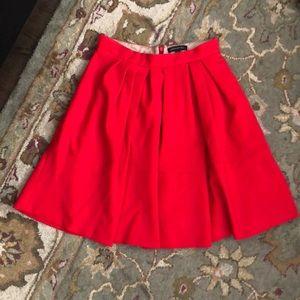 Banana Republic Red Flared Skirt